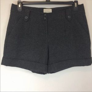 Hinge Glenn Check Plaid Tweed Wool Shorts